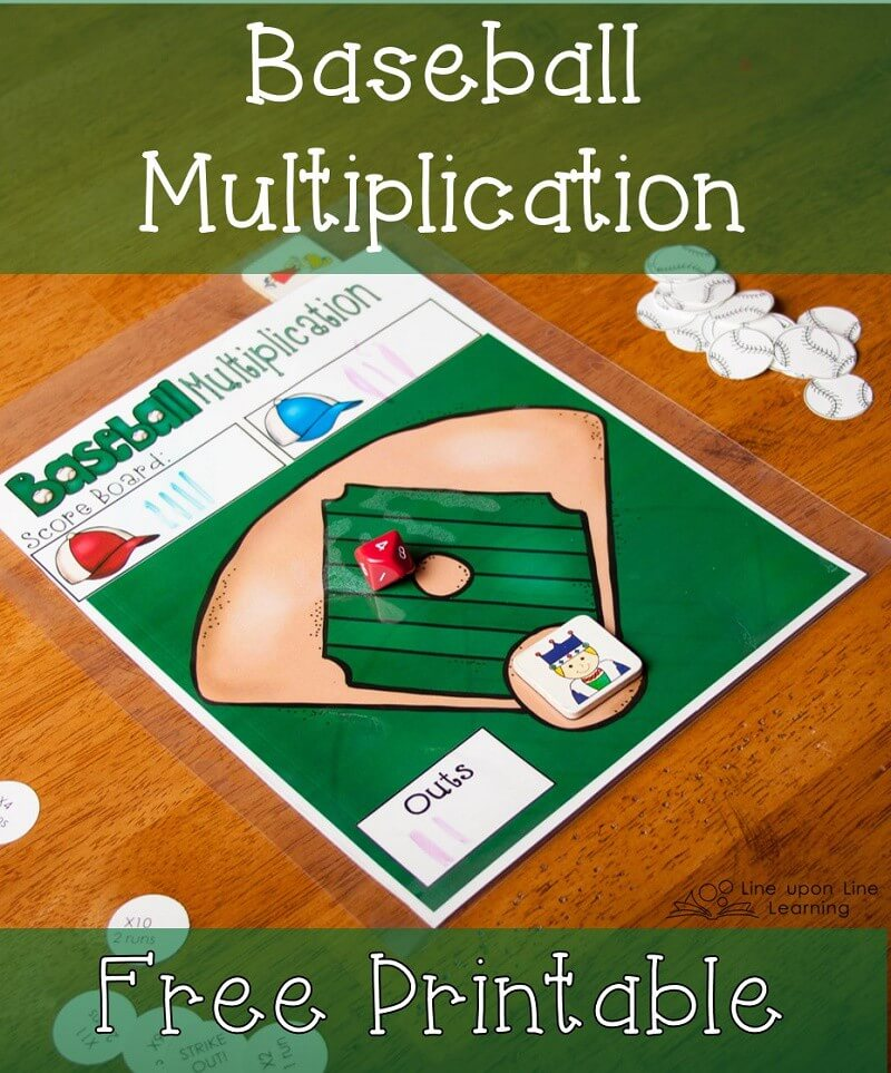 We used a ten-sided die to make a baseball multiplication game.
