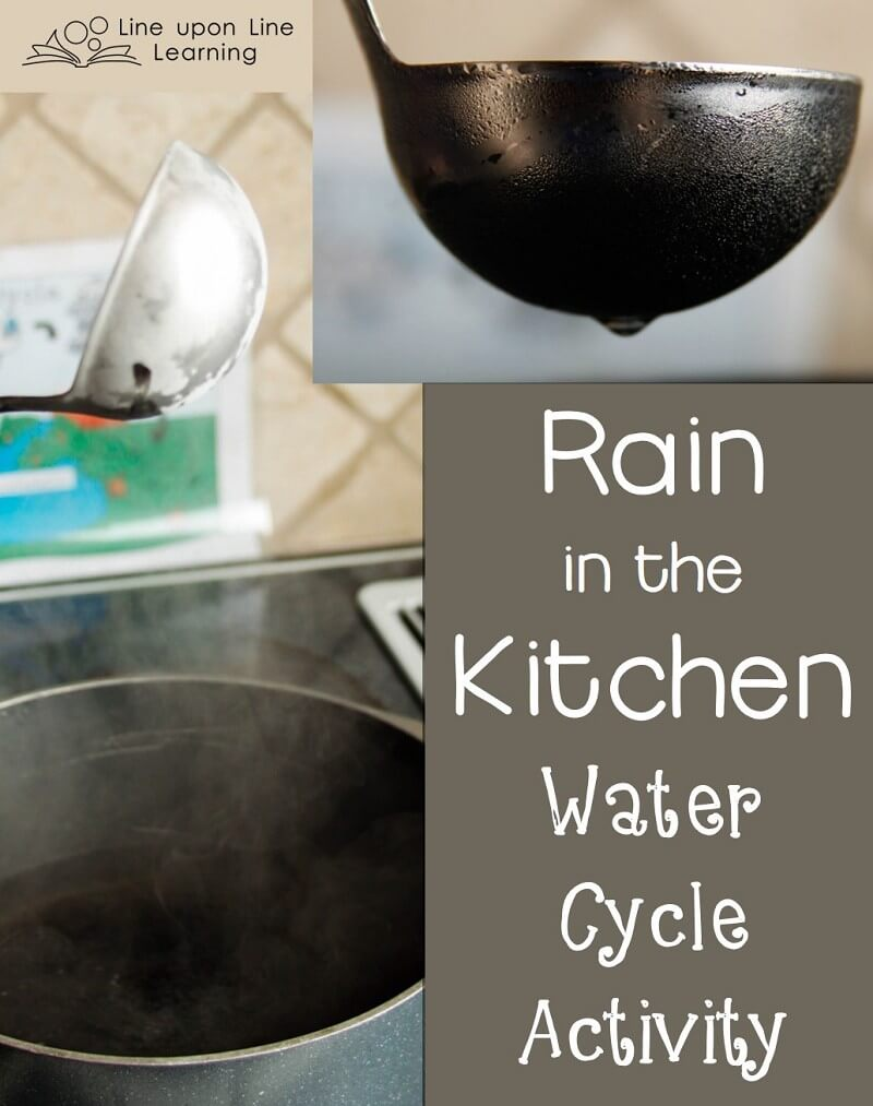 """We made it """"rain"""" in the kitchen with a simple water cycle activity."""
