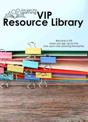 Sign up to become a Line upon Line Learning VIP and get access to the VIP Resource Library with dozens for resources!