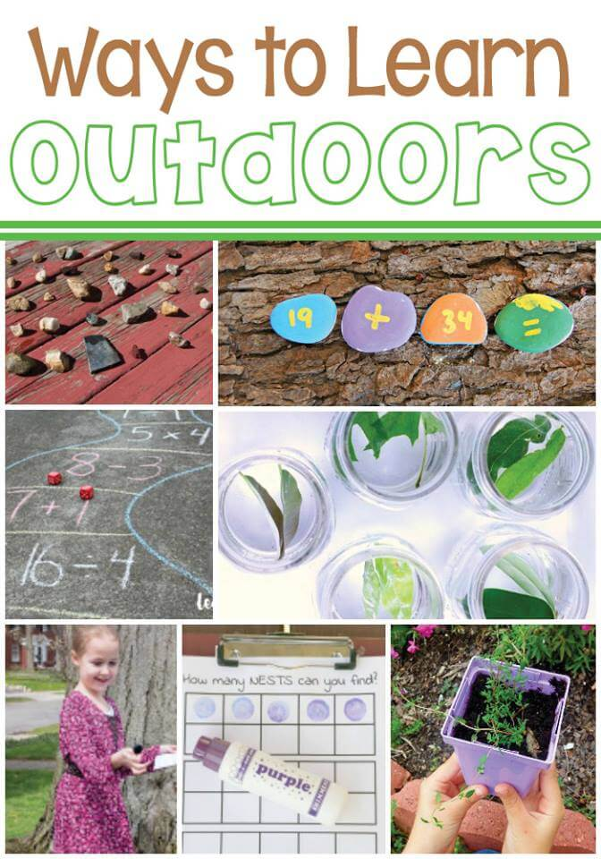 So many good ideas for learning outside!