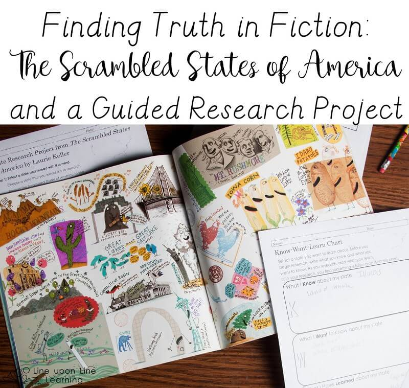 It seems goofy but we started our state research by reading The Scrambled States of America!