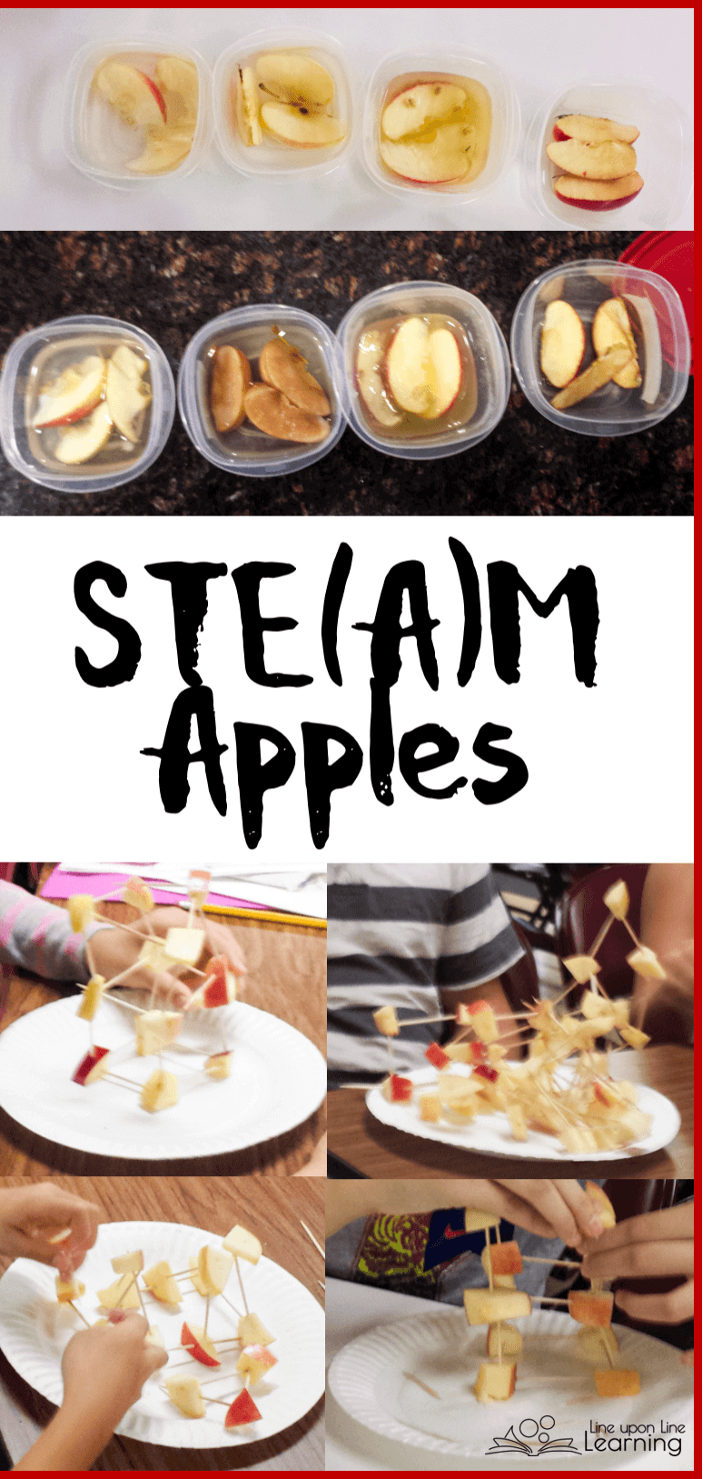 STEAM Apple activities were simply perfect for the autumn season.