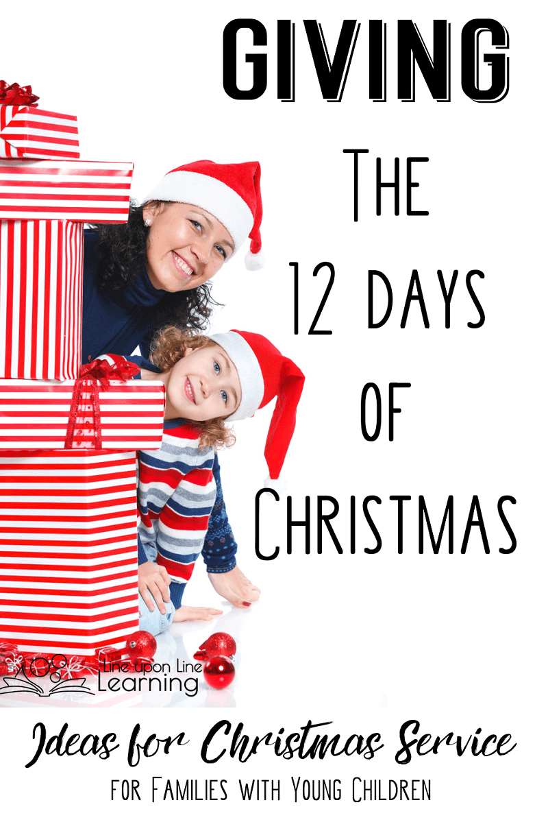 We choose a family and give them twelve days of Christmas gifts to show them we care.