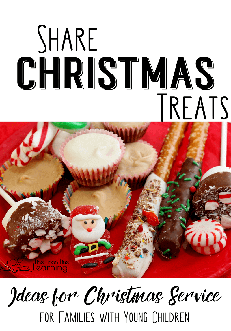 One way a child can serve during the holidays is to share Christmas treats.