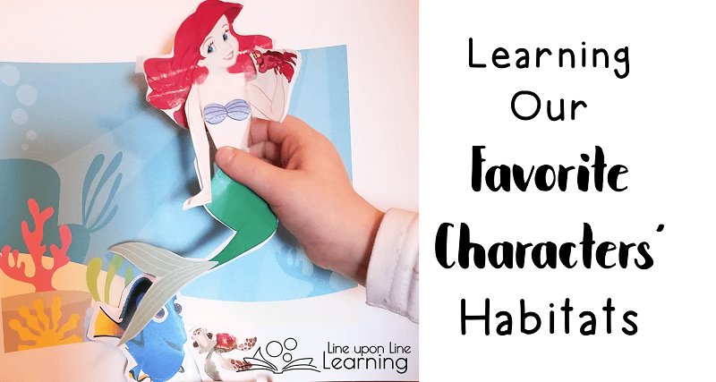 We used our favorite characters' habitats to learn about the different places in the world.