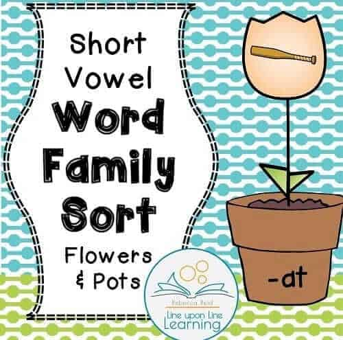 Short Vowel Word Family Picture Sort