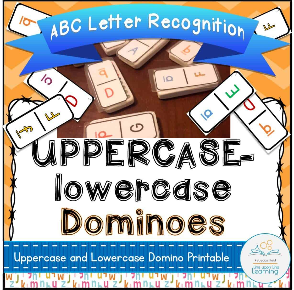 Abc Dominoes Uppercase Lowercase Alphabet Recognition