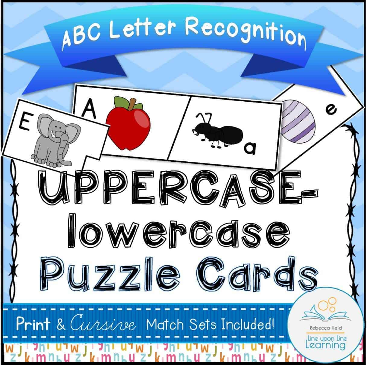 Abc Puzzle Cards Uppercase Lowercase Alphabet Recognition