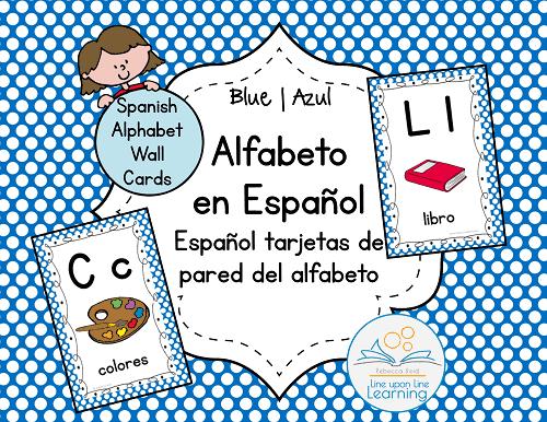 alfabeto espanol Wall Cards BLUE--COVER
