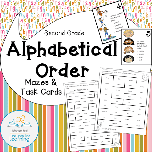 alphabetical order COVER