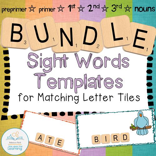 Letter Tiles Sight Words bundle cover