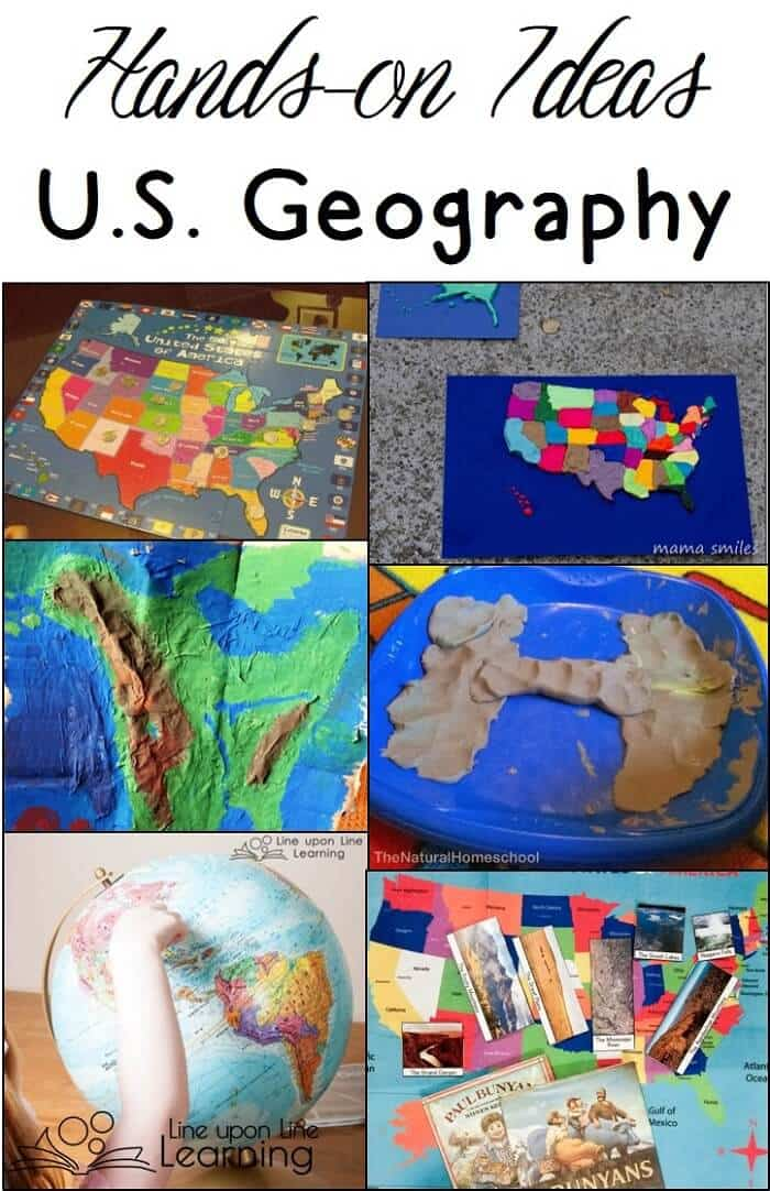 Learn about US geography with these hands-on ideas and activities.