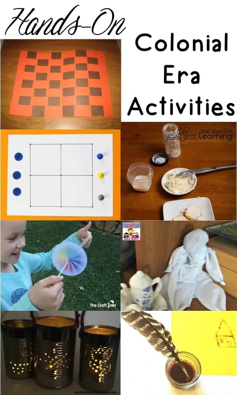 Play colonial games, do colonial chores, make things in a colonial way....a lesson about life in the American colonial era is sure to be a lot of fun.