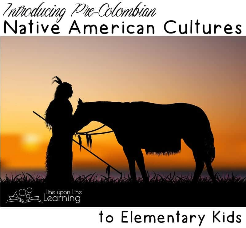 For my very young elementary students, we learn that there were a variety of Native American cultures before explorers from Europe arrived.