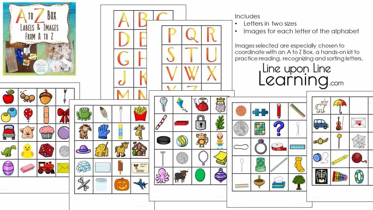 a to z box alphabet labels DEMO