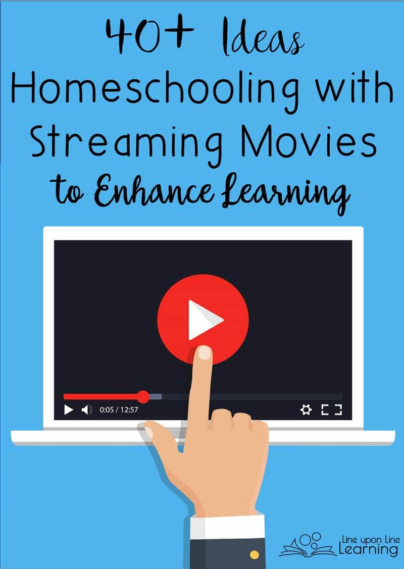 Here are some great places to find streaming movies for homeschooling, sorted by subject!
