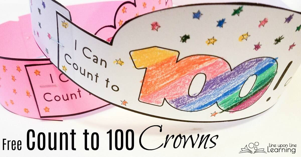 Celebrate the new abillity to count to 100 with these Count to 100 crowns! Four styles, two with 100 mazes to finish, and all with 100 stars.