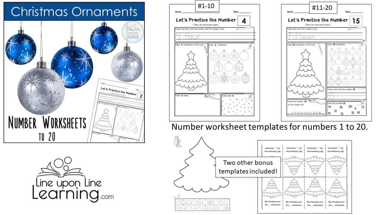 ornament number worksheets DEMO
