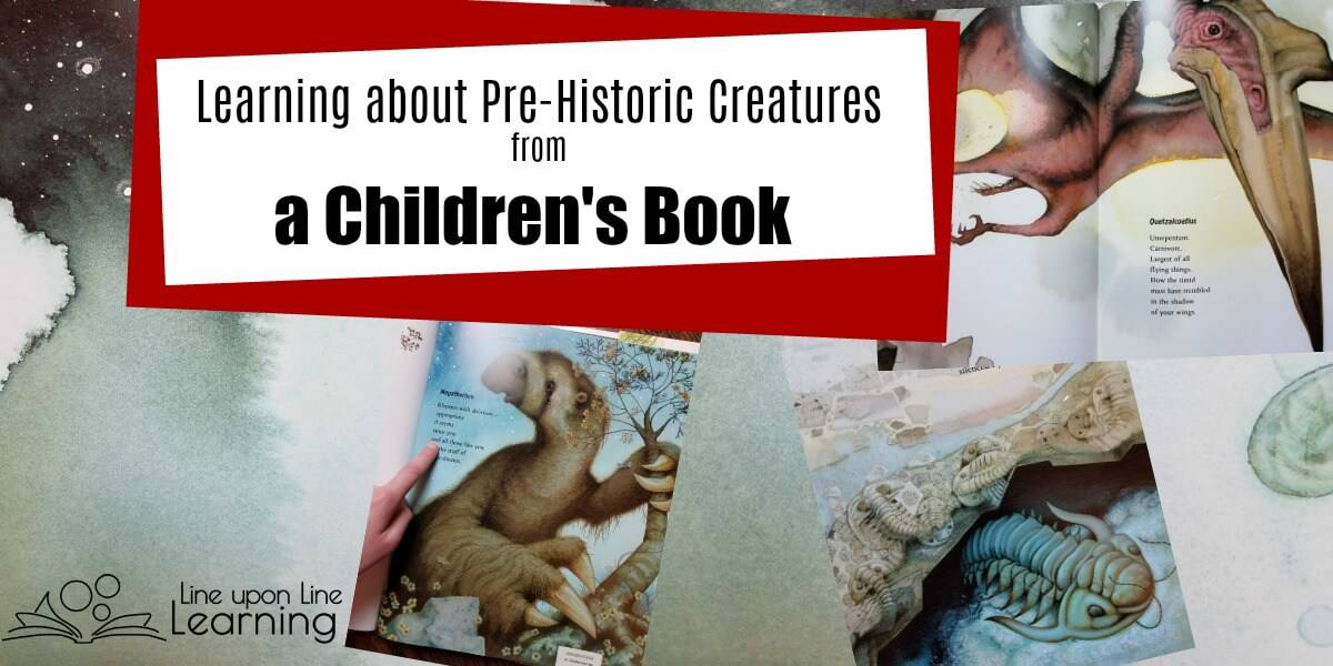 Great quality poems, rich illustrations, and detailed information about twenty pre-historic creatures make In the Past an amazing children's book to add to homeschool curriculum lists.
