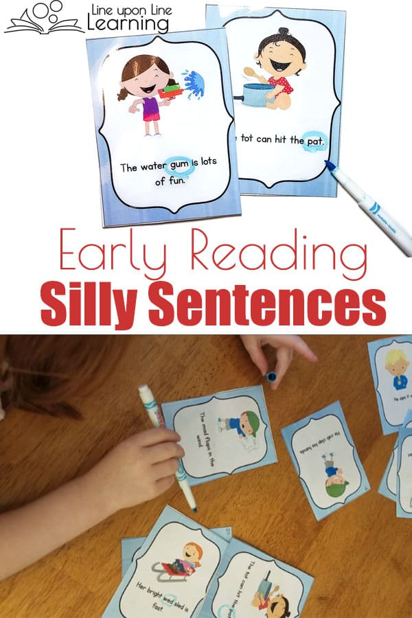 Correcting CVC sentences gives early readers experience carefully reading CVC words as they hunt for the one word that is an error in the sentence. The one wrong word makes the sentence hilarious! What a hoot.