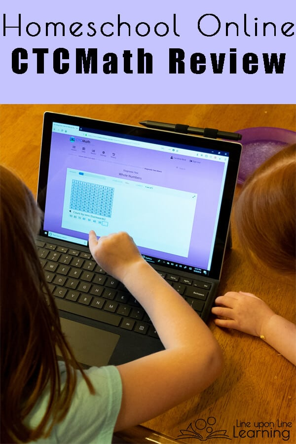CTCMath lets my kids watch a math tutorial and do self-grading math review by themseles, giving me more free time as I homeschool them in the other subjects! I love online homeschool curriculum!