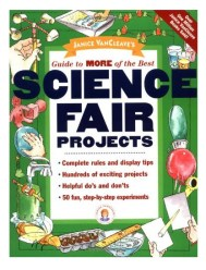 Janice VanCleave's Science Fair Guide for kids