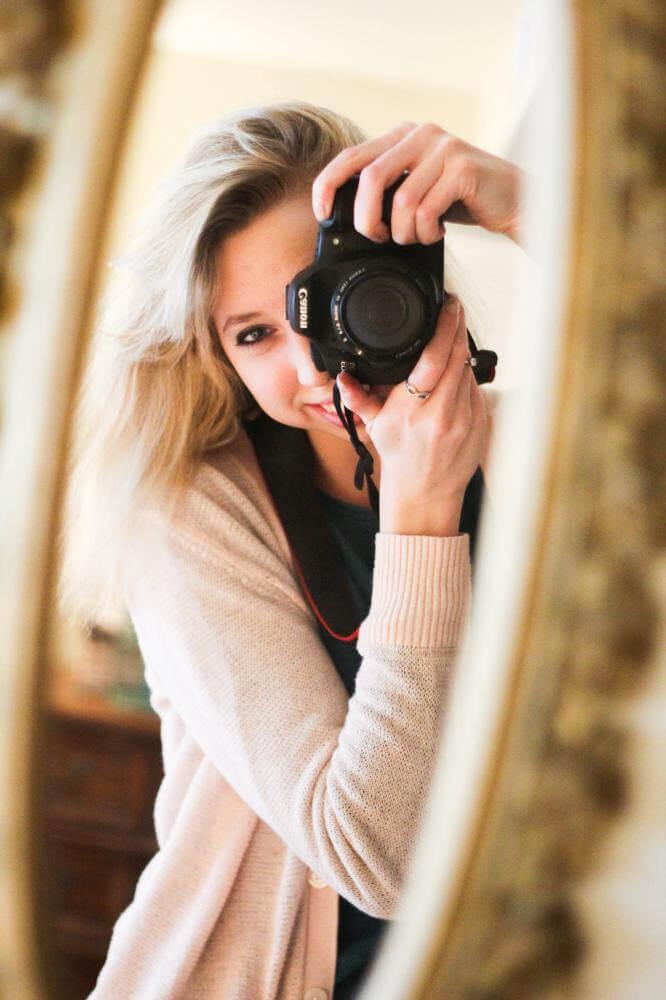 Homeschool high school student taking pictures