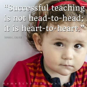 """Successful teaching is not head-to-head; it is heart-to-heart."""
