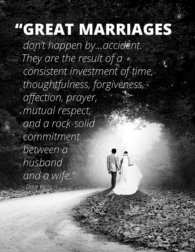 Great marriages require commitment