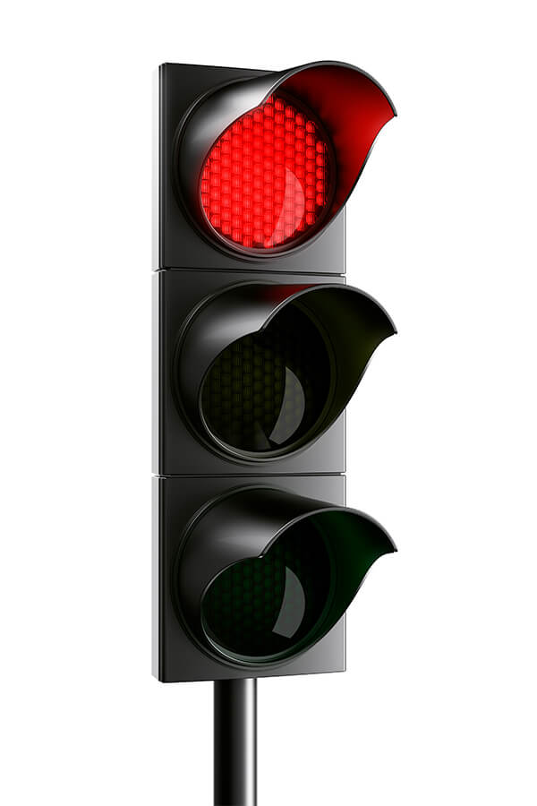 a red light means stop