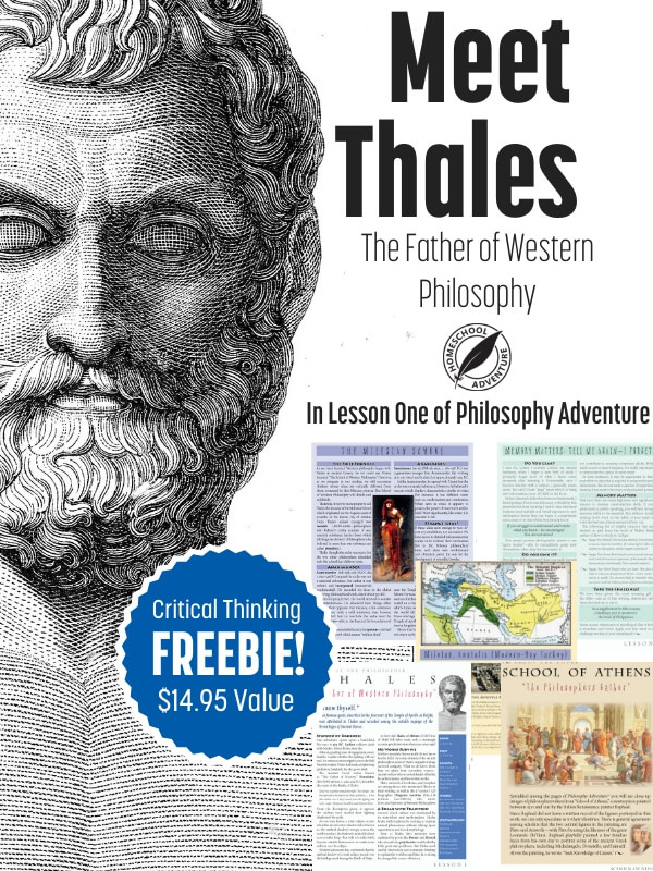 Meet Thales in the first lesson of Philosophy Adventure.