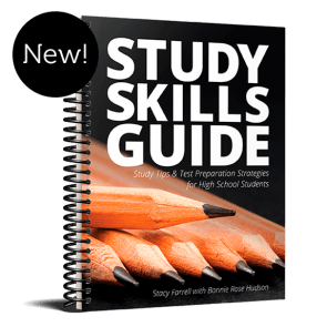 Study Skills Guide - Study Tips & Strategies for Test  filled with study tips and test preparation strategies for high school students.