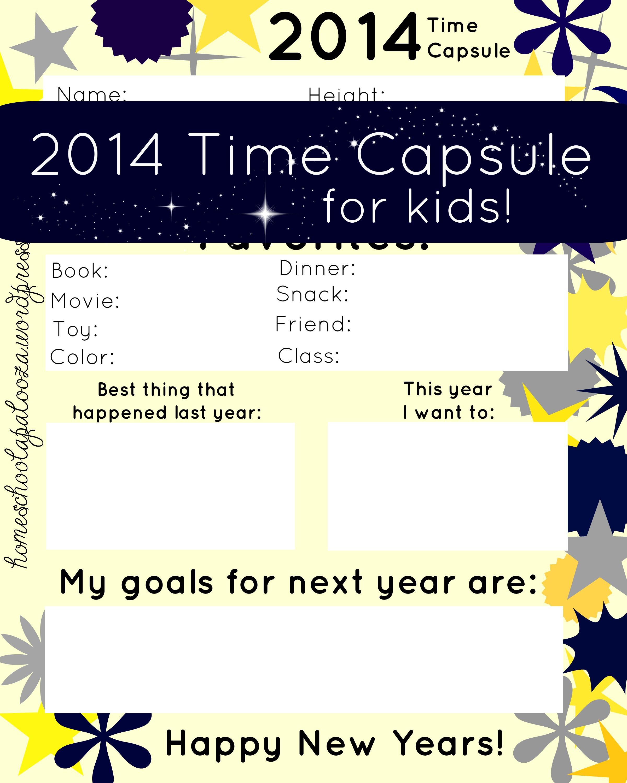 New Years Time Capsule Printable