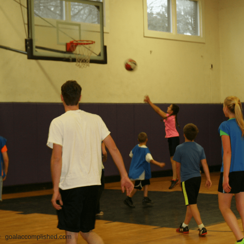 Home schooling help: Picture of teenagers playing basketball