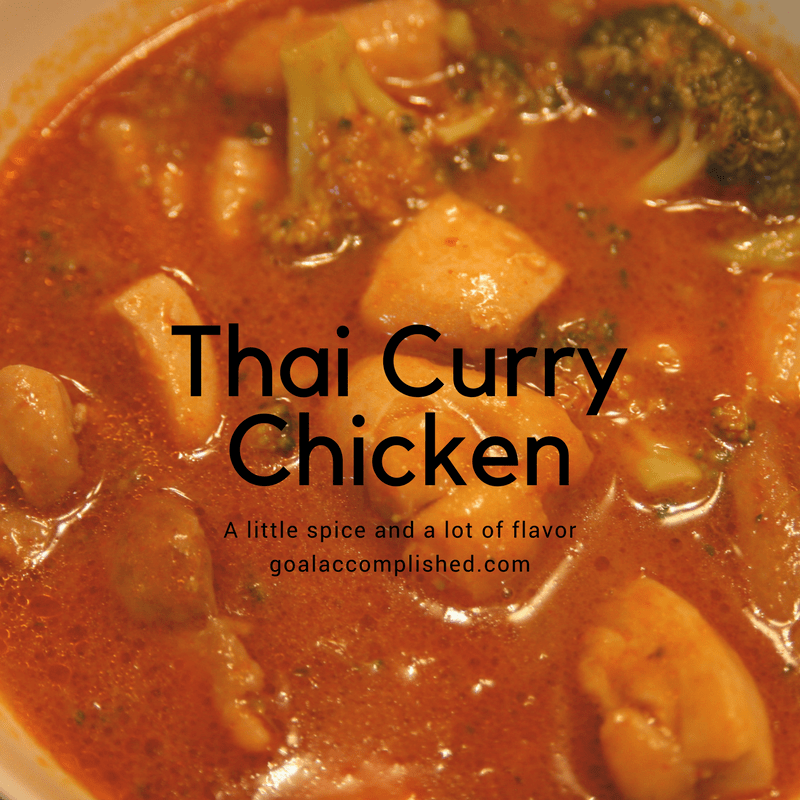 Up close picture of Thai Curry Chicken in bowl
