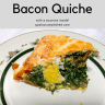 This slice of quiche shows the hard cooked egg inside!
