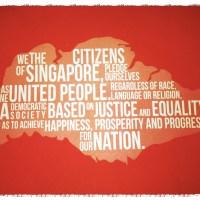 Celebrating National Day - Singapore Flag, National Anthem and Pledge