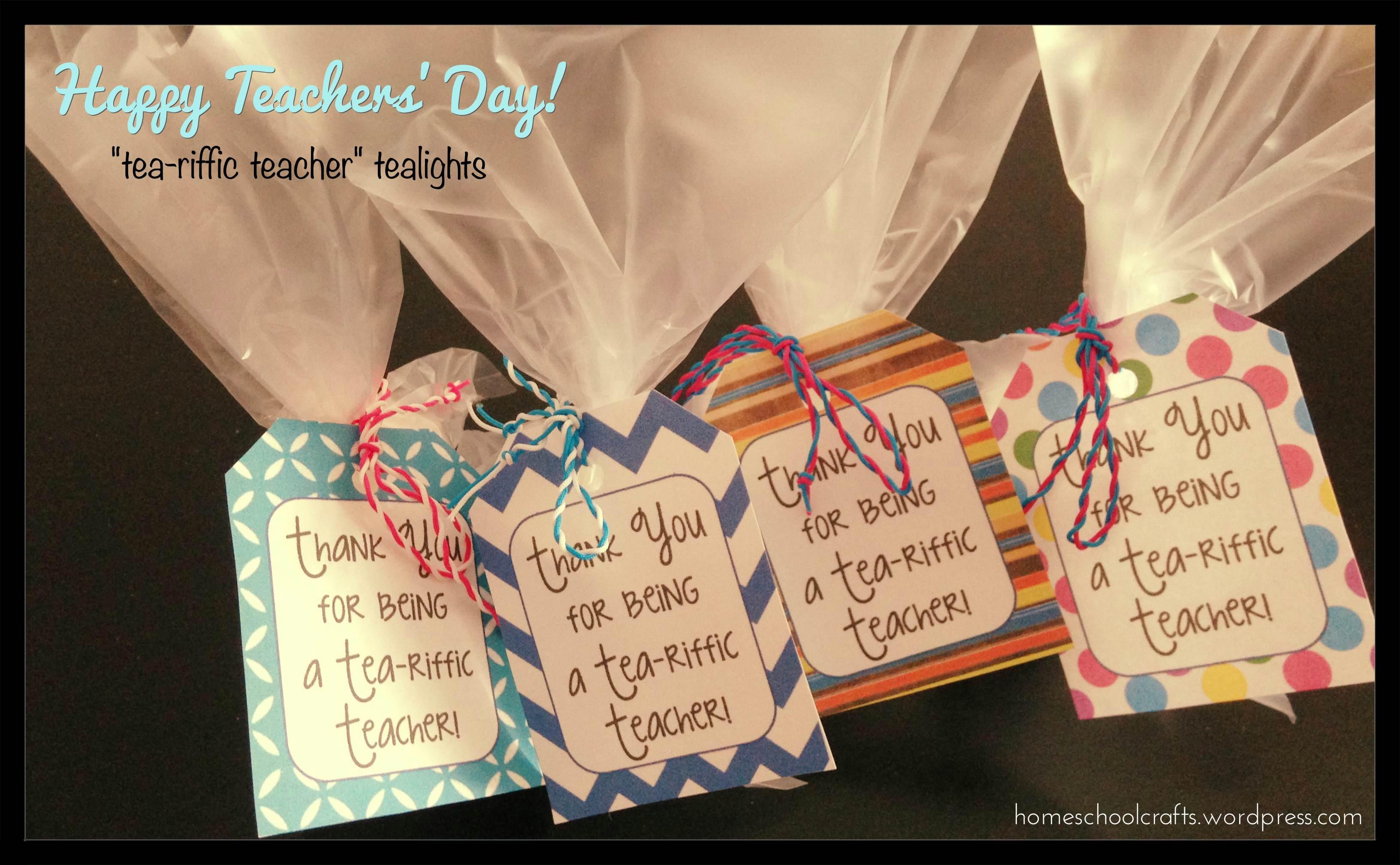 Teachers Day Tea Riffic Teacher Tea Lights