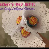 Teacher's Day 2016: Paper Doily Lollipop Flowers