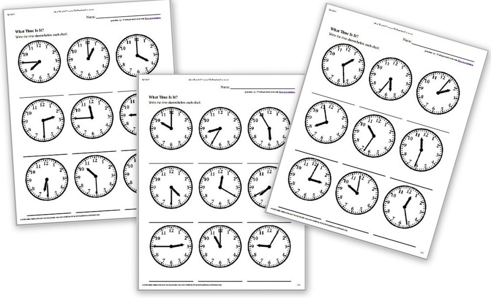 Image Result For Math Worksheets Time Grade 2