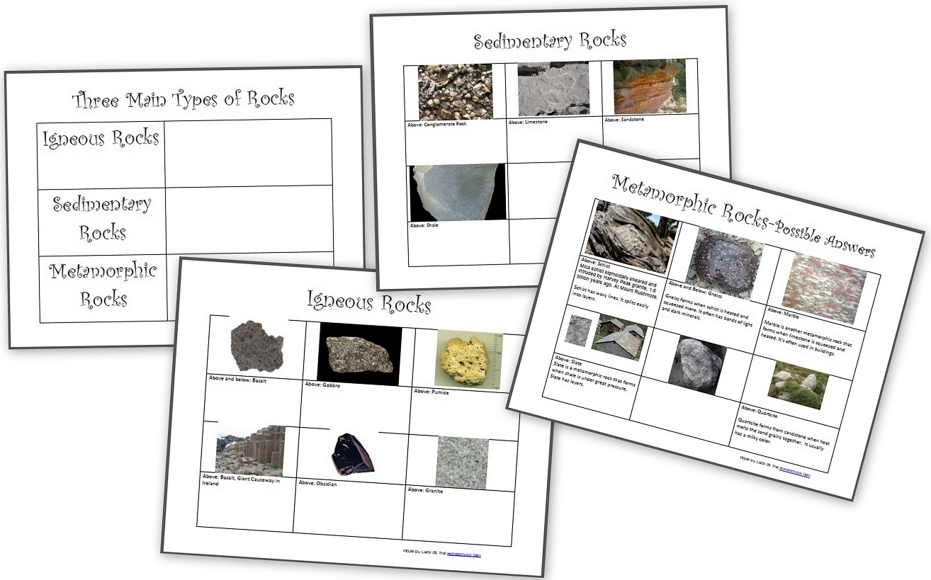 Free Rocks And Minerals Packet 25 Pages
