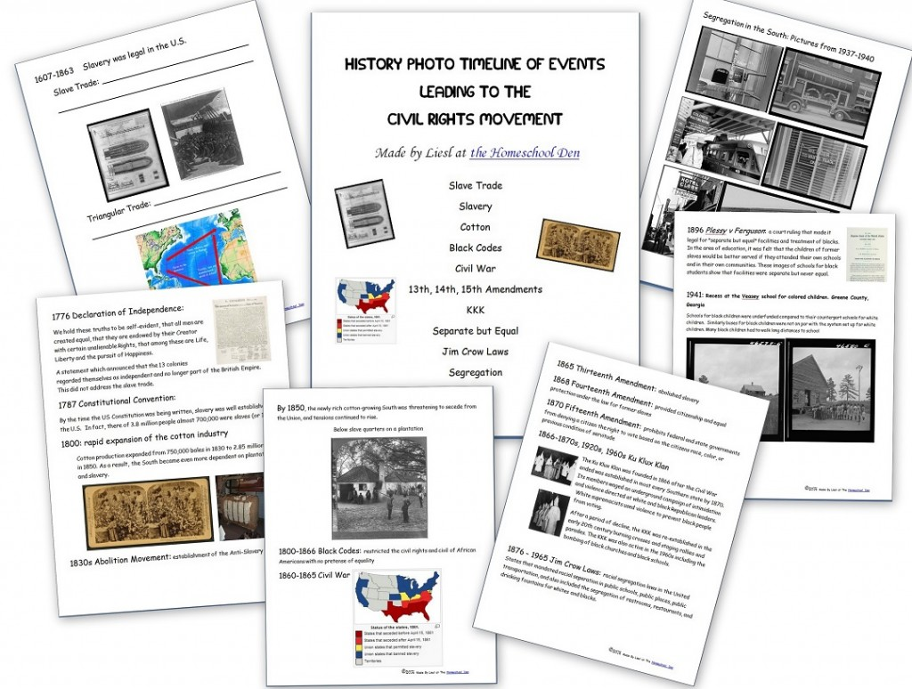 Free Civil Rights Packet Timeline Of Events Leading To