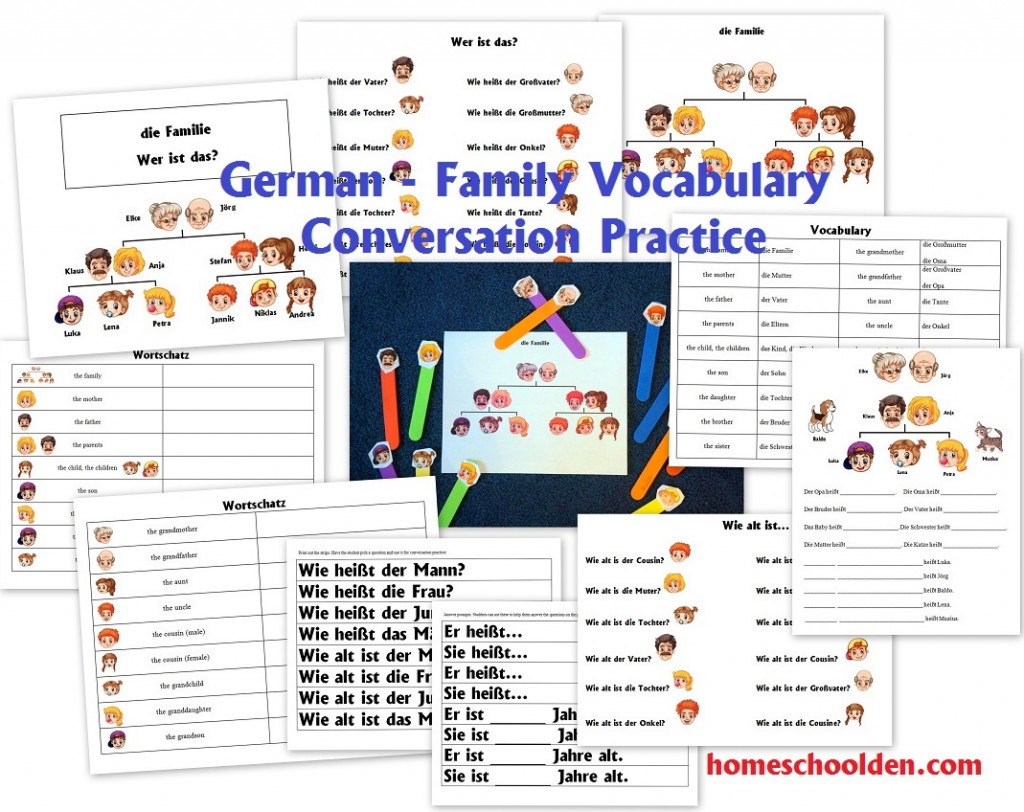 German Family Vocabulary Practice