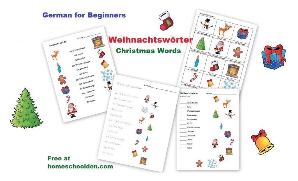 German For Beginners Weihnachtsworter Christmas Words