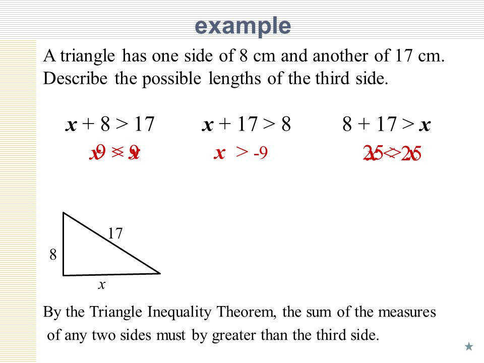 Triangle Inequality Theorem Worksheet Notes
