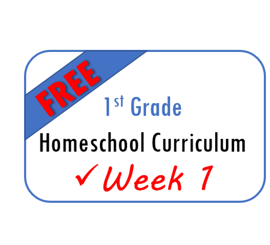 Free Week 1 Homeschool Curriculum 1st Grade From