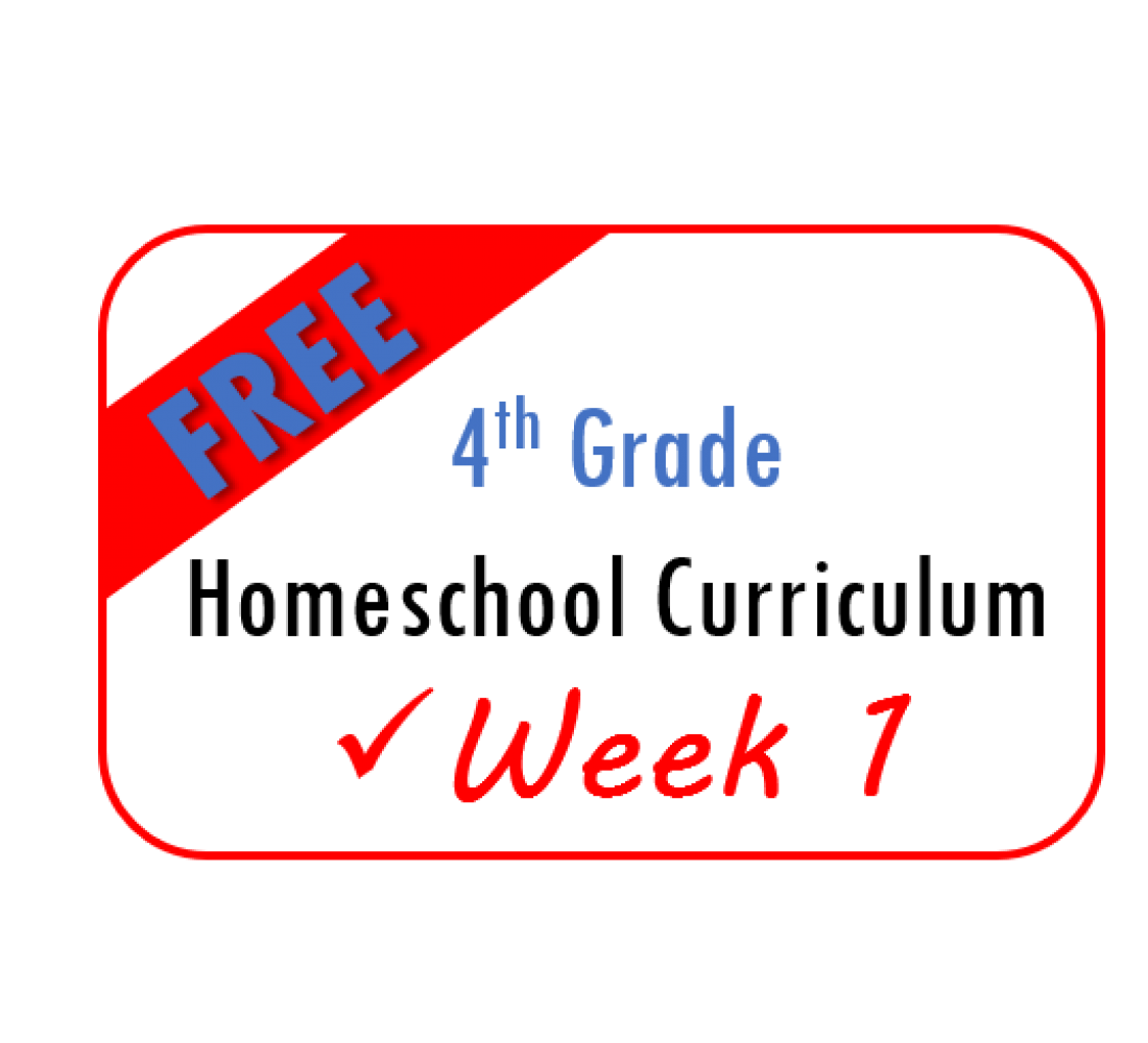 Free Week 1 Homeschool Curriculum 4th Grade From