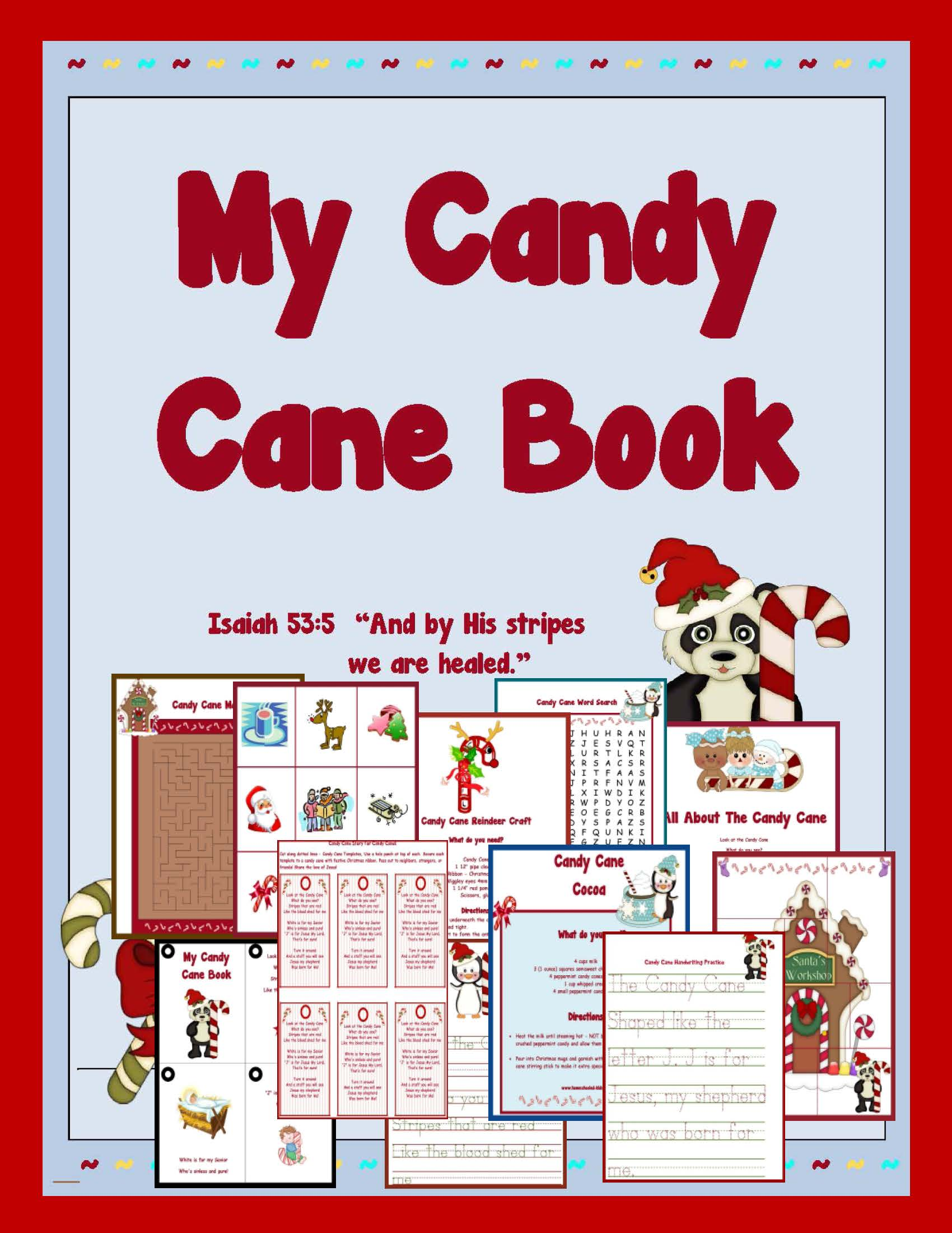 Candy Cane Printable Packet
