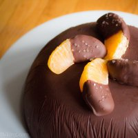 Orange and Chocolate Dome Cake
