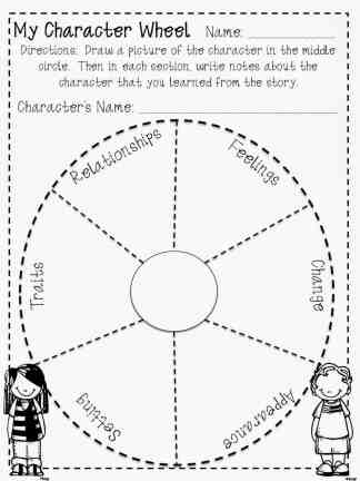 FREE Character Wheel For Reading Homeschool Giveaways